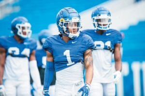 Receiver WanDale Robinson (1) figures to get the ball in a variety of ways this season at Kentucky. (UK Athletics Photo)