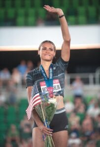 FOLLOW EX-UK STAR IN SUMMER OLYMPICS — Former UK track star Sydney McLaughlin set a world record in the 400-meter hurdles at the U.S. Trials but has the potential to go even faster in the Olympics. (USA Track & Field Photo)