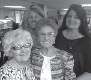 Carol Shepherd Day, Debbie Miles Lester, Kathleen Howard Miles Brock and Louise Howard Shepherd. Carol Day had a birthday on the 8th.