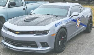"""This 2015 Camaro was named """"Best Looking Cruiser in the Country"""" for 2021 by the American Association of State Troopers. It will be on display Saturday at a car show at the old Whitesburg High School sponsored by Post 13 of the Kentucky State Police. Proceeds from the event will benefit Post 13's """"Shop With a Trooper"""" Christmas charity."""